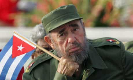 Fidel Castro attends a rally