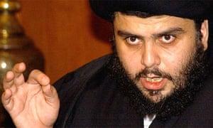 Radical Iraqi Shiite cleric Muqtada al-Sadr speaks during a press conference in Damascus in 2006