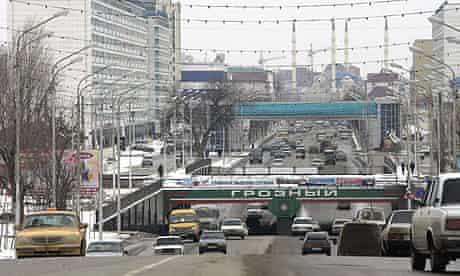 Akhmad Kadyrov street in Grozny