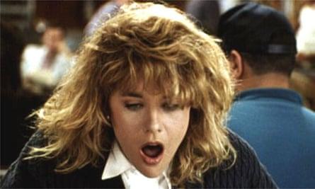 Meg Ryan's fake orgasm in When Harry Met Sally, 1989