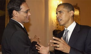Jimmy Smits with Barack Obama in September 2005