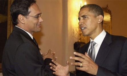 Jimmy Smits with Barack Obama in September 2005