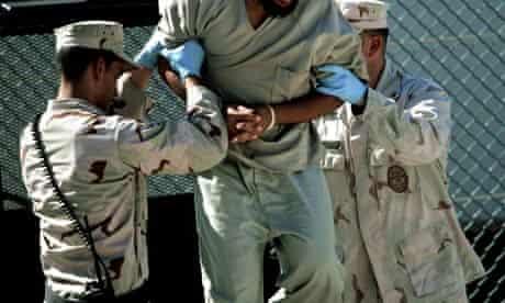 An interviewee at Guantanamo Bay