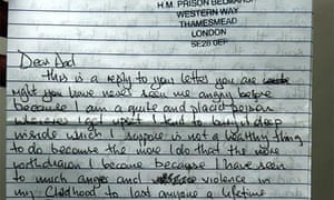 Wrights letter to father from prison uk news the guardian wrights letter to father from prison ccuart Images