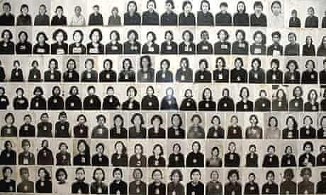 Images of genocide victims are displayed on the walls of the Tuol Sleng Musuem of Genocidal Crime, formerly the Khmer Rouge torture centre run by Kaing Guek Eav