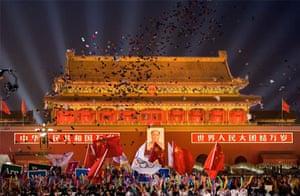 Olympics countdown, Tiananmen Square, Beijing