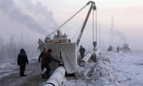 Gazprom employees in Russia