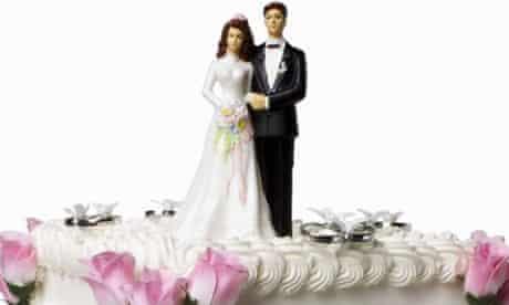 Wedding cake bride and groom