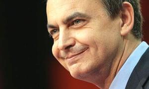 The Spanish prime minister, José Luis Rodríguez Zapatero