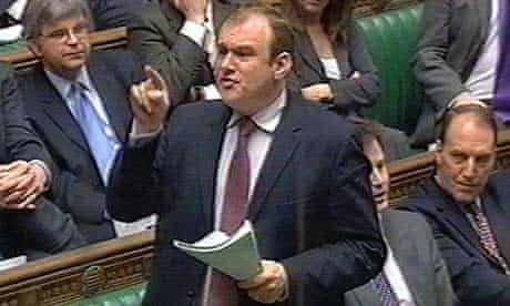 Ed Davey speaks in the Commons shortly before he was thrown out by the deputy speaker