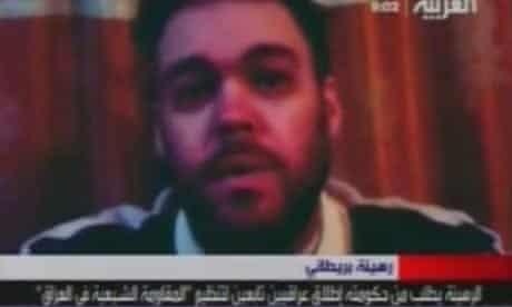 Screengrab of British man Peter Moore, held hostage in Iraq