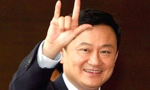 Thaksin Shinawatra arrives at the Thai foreign ministry in 2006