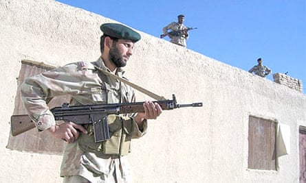 Pakistani soldiers in Qila Abdullah near the Afghan border