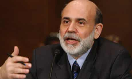 Federal Reserve chairman Ben Bernanke delivers the Fed's monetary policy report. Photograph: Dennis Cook/AP