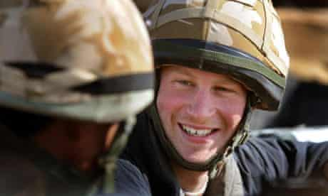 Prince Harry talks to a Gurkha soldier
