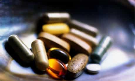 Various vitamin pills