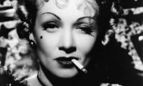 Hollywood star Marlene Dietrich, who added to the perceived glamour of smoking.