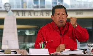 Venezuela's president Hugo Chavez speaks during his weekly broadcast in Caracas