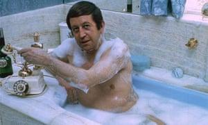 Paul Raymond poses in the bath, 1967