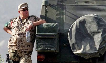 German soldier in Kabul, Afghanistan.