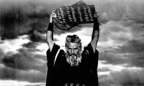 Charlton Heston as Moses in the 1955 film The Ten Commandments