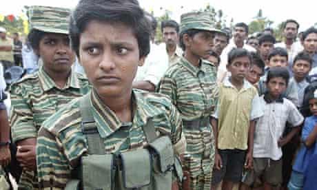Young Tamil Tiger rebels at a memorial service in Batticaloa, Sri Lanka