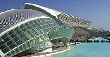 The Prince Felipe science museum in Valencia, designed by Santiago Calatrava