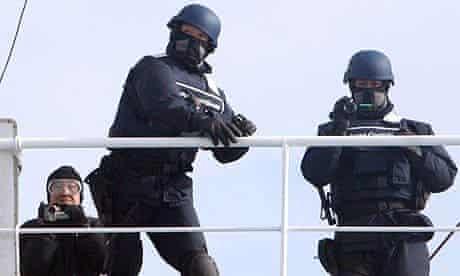 Japanese coastguards throw flash grenades at Sea Shepherd anti-whaling ship the Steve Irwin