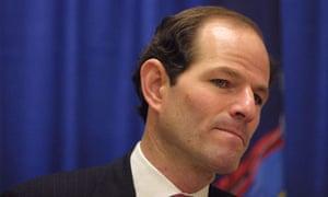 New York governor Eliot Spitzer. Photograph: Jim McKnight/AP