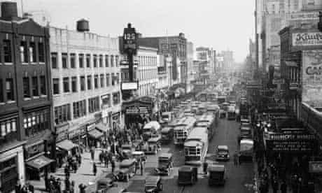 Harlem's bustling 125th Street as it looked in 1935