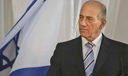 The Israeli prime minister, Ehud Olmert
