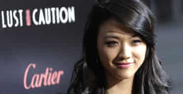 Tang Wei at a screening of Lust, Caution