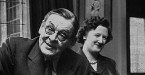 Anglo-American Nobel prize winning poet TS Eliot (1888 - 1965) with his second wife Valerie