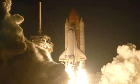 Space shuttle Endeavour lifts off
