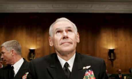Admiral William Fallon steps down