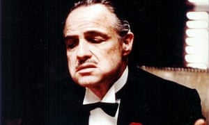 Actor Marlon Brando, shown in this undated handout picture in a scene from his 1972 film 'The Godfather'. Photograph: EPA