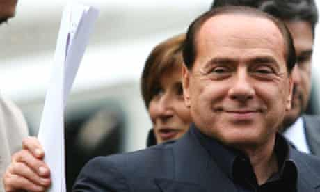 Conservative leader and former premier Silvio Berlusconi