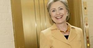 Hillary Clinton votes at the senate