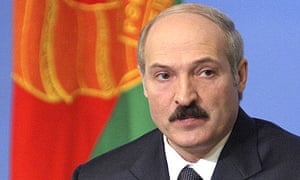 Belarus president Alexander Lukashenko speaks to a media in Minsk, in March 2006.