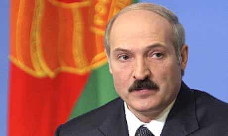 Belarus president Alexander Lukashenko speaks to a media in Minsk, in March 2006.