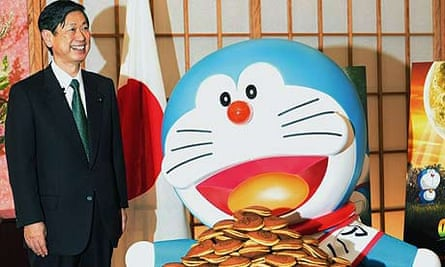 Doraemon, the cartoon character who has been named Japan's first animation ambassador