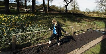 Alice Wignall on the Barefoot Park trail at Trentham estate in Staffordshire