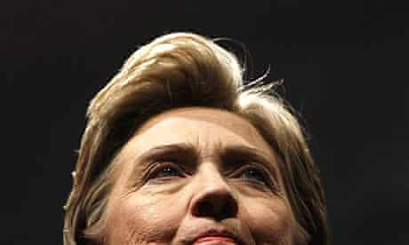 Hillary Clinton during a campaign speech in Pennsylvania