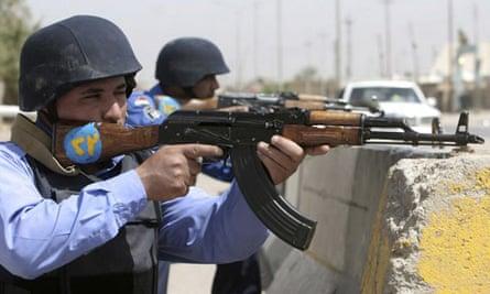 Iraqi soldiers in Basra