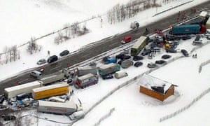 pileup in Austria