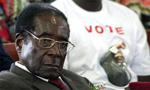 Mugabe at a church service in Bulawayo on March 23, 2008. He told the congregation that churches and businesses must all be run by black Zimbabweans