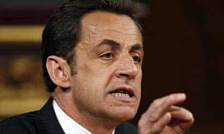 Nicolas Sarkozy addresses MPs and peers at Westminster