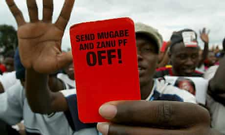 MDC supporters in Zimbabwe