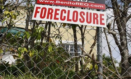A foreclosure sign in front of a home in Florida