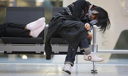 A passenger in Heathrow's Terminal Five.